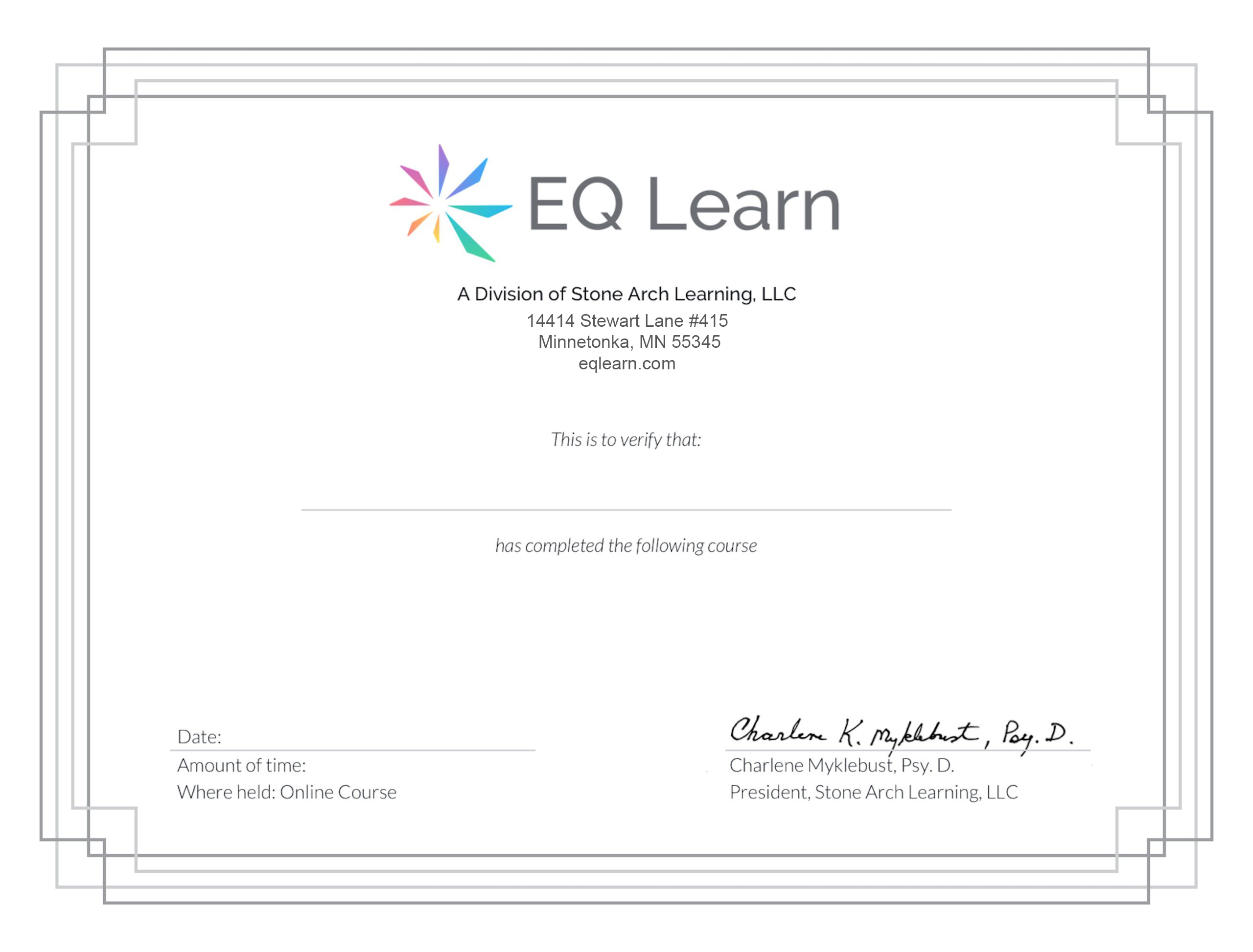 Course Completion Certificate